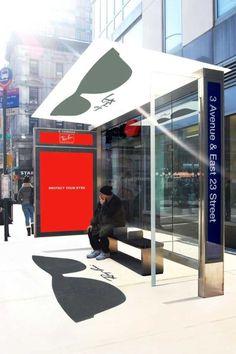 Ray Ban bus stop advertisement.