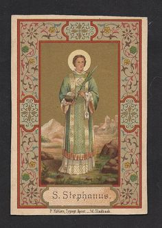 Gorgeous 18c Gold Print Holy Card of Saint by Divinegiftshop