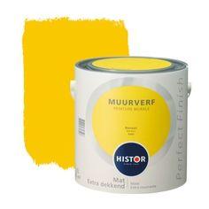 Histor Perfect Finish muurverf mat banaan 2,5 l | Muurverf kleur | Muurverf | Verf & verfbenodigdheden | KARWEI