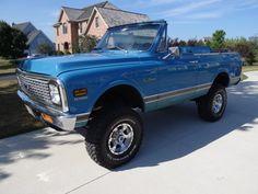 1972 k-5 Chevy blazer - LOVE 67 72 Chevy Truck, Chevy 4x4, Lifted Chevy Trucks, Gm Trucks, Cool Trucks, Chevy Vans, Chevy Blazer K5, K5 Blazer, Ride The Lightning