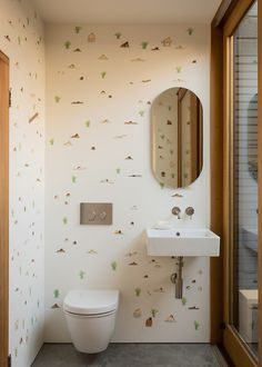 Two for One: A Courtyard Connects Old and New in a San Francisco Home by Architect Ryan Leidner - Remodelista Modern Bathroom, Small Bathroom, Bathrooms, Bathroom Closet, Outdoor Tub, Outdoor Toilet, Wall Storage Systems, San Francisco Houses, Wall Mounted Sink