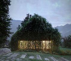 Green Box – un refugio verde consumido por la vegetación by Act Romegialli (Cerido, Italia) #architecture