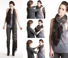 Beauty, Health And Fashion Uncensored: Chic and Creative Ways to Tie a Scarf