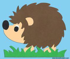 Fall decorations - Hedgehog on cardboard
