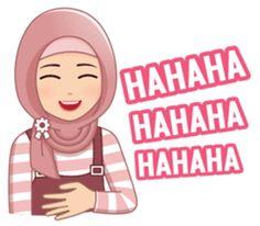 This hijab girl is beautiful, cute, nice, friendly and happy Emoji People, Hahaha Hahaha, Hijab Drawing, Islamic Cartoon, Anime Muslim, Hijab Cartoon, Cute Love Cartoons, Cartoon Quotes, Funny Emoji