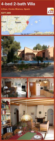 4-bed 2-bath Villa in Lliber, Costa Blanca, Spain ►€277,000 #PropertyForSaleInSpain