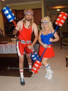 Coolest American Gladiators Couple Costume - Halloween Costume Contest