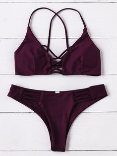 Criss Cross Design Bikini Set