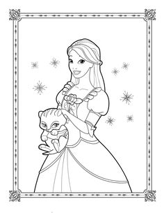 Barbie Mermaid Coloring Pages For Girls Image Printable