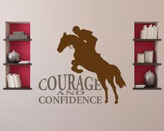 LARGE Jumping horse wall decal  equestrian decor  by thelatestBuzz, $35.00