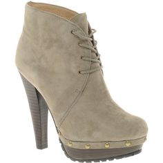 Diavolina Lola Suede Lace-Up Ankle Boot ($119) ❤ liked on Polyvore