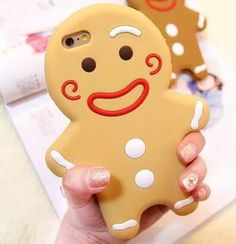 2015 New gingerbread man cookies Iphone 6S case cover for iphone 5/5s/6/6S Plus silicon phone back shell