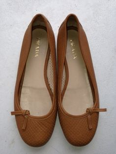 Brown flats with a little bow