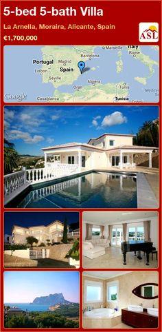 5-bed 5-bath Villa in La Arnella, Moraira, Alicante, Spain ►€1,700,000 #PropertyForSaleInSpain