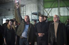 Victor Garber, Wentworth Miller, Dominic Purcell, and Caity Lotz in Legends of Tomorrow (2016)