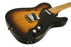Fender Electric Guitar Custom Shop 50s Thinline Relic 2-Tone Sunburst   Rainbow Guitars