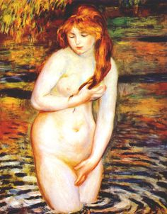 The Bather (After the Bath) - Pierre-Auguste Renoir, 1888