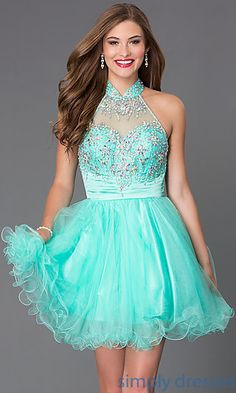 Shop Elizabeth K short prom dresses and homecoming dresses with beading at Simply Dresses. Baby doll dresses and sweet-16 dresses under $200.