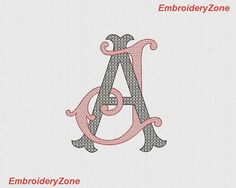 Double monograms A & J with easy filling machine embroidery designs AJ JA. 2 letters A J font A and J embroidery sizes Embroidery Monogram, Embroidery Transfers, Embroidery Fonts, Vintage Embroidery, Machine Embroidery Designs, Embroidery Patterns, Etsy Embroidery, Monogram Design, Monogram Fonts
