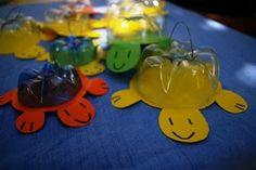 Juego de tortugas con botellas plasticas.