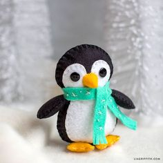 Winter Penguin Felt Stuffie