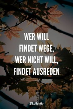 Wer will findet Wege. Wer nicht will, findet Ausreden. True Quotes, Funny Quotes, Heart In Nature, German Quotes, Stranger Things Funny, Free Mind, I Can Do It, Encouragement Quotes, True Words