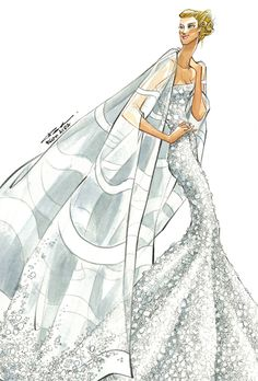 Brides: Jennifer Aniston's Wedding Dress: Designer Sketches | Wedding Dresses | Brides.com