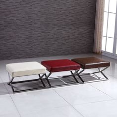 Use this attractive faux-leather bench as regular seating in any room that needs it or as an occasional perch in a hallway or entryway.