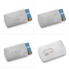 Personalized Stainless Steel Card Holder -  Never lose credit cards or ID again with our personalized stainless steel card holder!