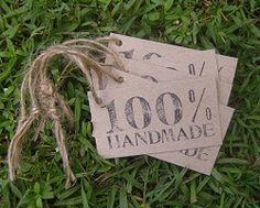 Recycled Swing Tag Custom Print & Cut - Hole & String 60mmx40mm
