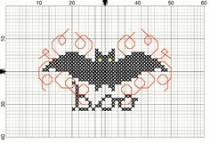 Bat Pattern: Cross Stitch Halloween Project - Crafts Unleashed