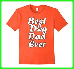 Mens Best Dog Dad Ever Funny Fathers Day T-shirt XL Orange - Holiday and seasonal shirts (*Amazon Partner-Link)