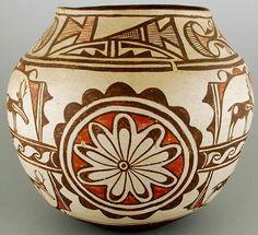 Native American Zuni Polychrome Pottery Jar by CulturalPatina