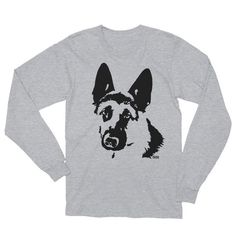German Shepherd Unisex T-shirt Long Sleeve Tshirt Dog Mom Shirt Dog Dad Gifts Christmas Gift For Dog Dog Mom Shirt, Mom Shirts, T Shirt Long, Long Sleeve Shirts, Dog Dad Gifts, Dog Christmas Gifts, Unisex, German, Dads