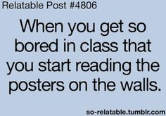 Every lesson especially in Maths!!