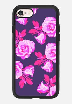 Casetify iPhone 7 Classic Grip Case - Vivid rose by Olga Komasinska #Casetify