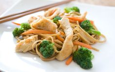 Chicken and Broccoli Stir Fry.  I'm going to make this and use the udon noodles I bought from costco.