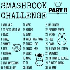 'Take This Super Fun Smashbook Challenge...!' (via Your Healthy Year)