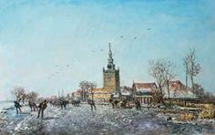 Johan Barthold Jongkind - Winters gezicht op Overschie