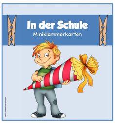 """Miniklammerkarten zum Thema """"In der Schule""""     Ein Wunsch per Mail waren Miniklammerkarten  zum Thema """"In der Schule"""" für DaZ. Ich habe n..."""