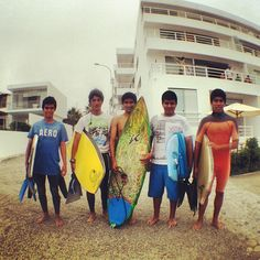 Young surfers at Punta Hermosa, beach outside of Lima, Peru.