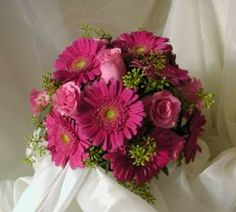 Gerbera Wedding Bouquets | Pink Gerbera and Rose Wedding Bouquet