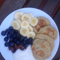 Basic vegan oat pancakes.  Single-Serving Recipe