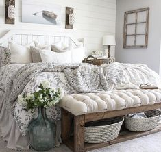 27 Beautiful For Farmhouse Bedroom Decor Ideas And Design. If you are looking for For Farmhouse Bedroom Decor Ideas And Design, You come to the right place. Below are the For Farmhouse Bedroom Decor . Home Decor Bedroom, Bedroom Makeover, Home Bedroom, Home Decor, House Interior, Bedroom Inspirations, Bedroom, Rustic Bedroom, Rustic House