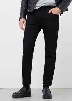 Zwarte jan slim-fit jeans - Jeans voor Heren | MANGO Man Nederland
