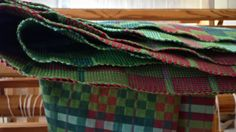 Thick and thin towels just off the loom!