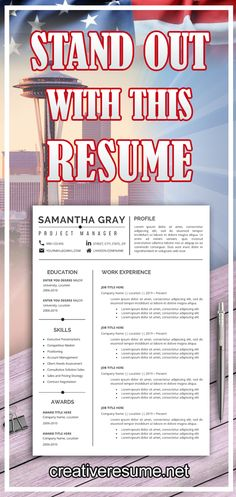 Modern 1 Page CV Resume template in Word file format (Cover Letter & Reference Page Templates included) to achieve your dream job Project Manager Resume, Job Resume, Resume Tips, Resume Examples, Modern Resume Template, Creative Resume Templates, Cv Template, Cv Words, Resume Words