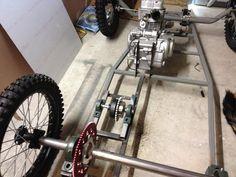 JR's project (Page : Custom Karts Forum : CycleKart Forum : The CycleKart Club Garage Bike, Diy Garage, Diy Electric Car, Civil Engineering Construction, Mini Chopper, Karts, Pedal Cars, Wood Tools, Bike Frame