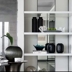 Kelly Hoppen Interiors, Richard Rogers, Built In Wall Units, Japan Interior, Living Room Shelves, Luxury Interior, Interior Ideas, Display Shelves, Luxury Living