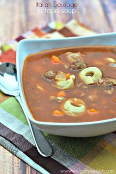 Italian Sausage Tortellini Soup #soup #Italiansausage http://sulia.com/my_thoughts/6d3300cf-d240-491c-9054-80fc48aafaec/?source=pin&action=share&btn=big&form_factor=desktop